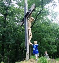 Ben_Pawlowski_at_foot_of_crucifix_June_2013