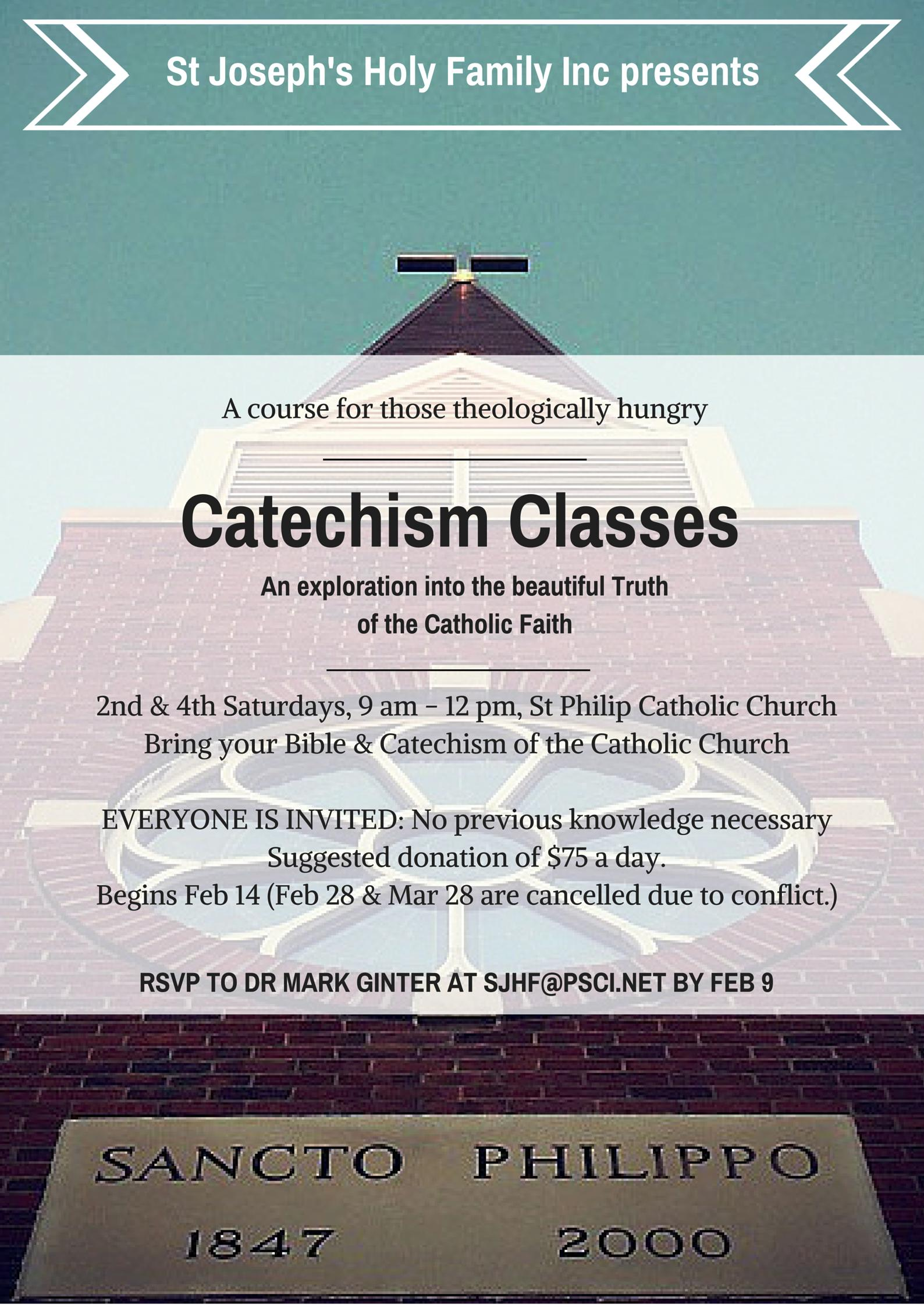 Catechism class at St Philip